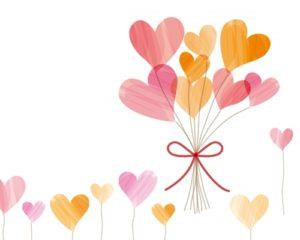 ハートの花束のイラスト